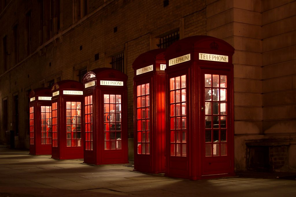 British TV Telephone Box